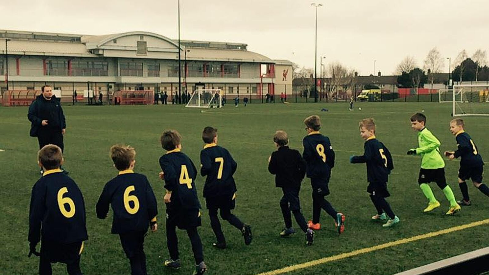 Ormskirk FC Blue U8s Play against Liverpool FC at the Academy