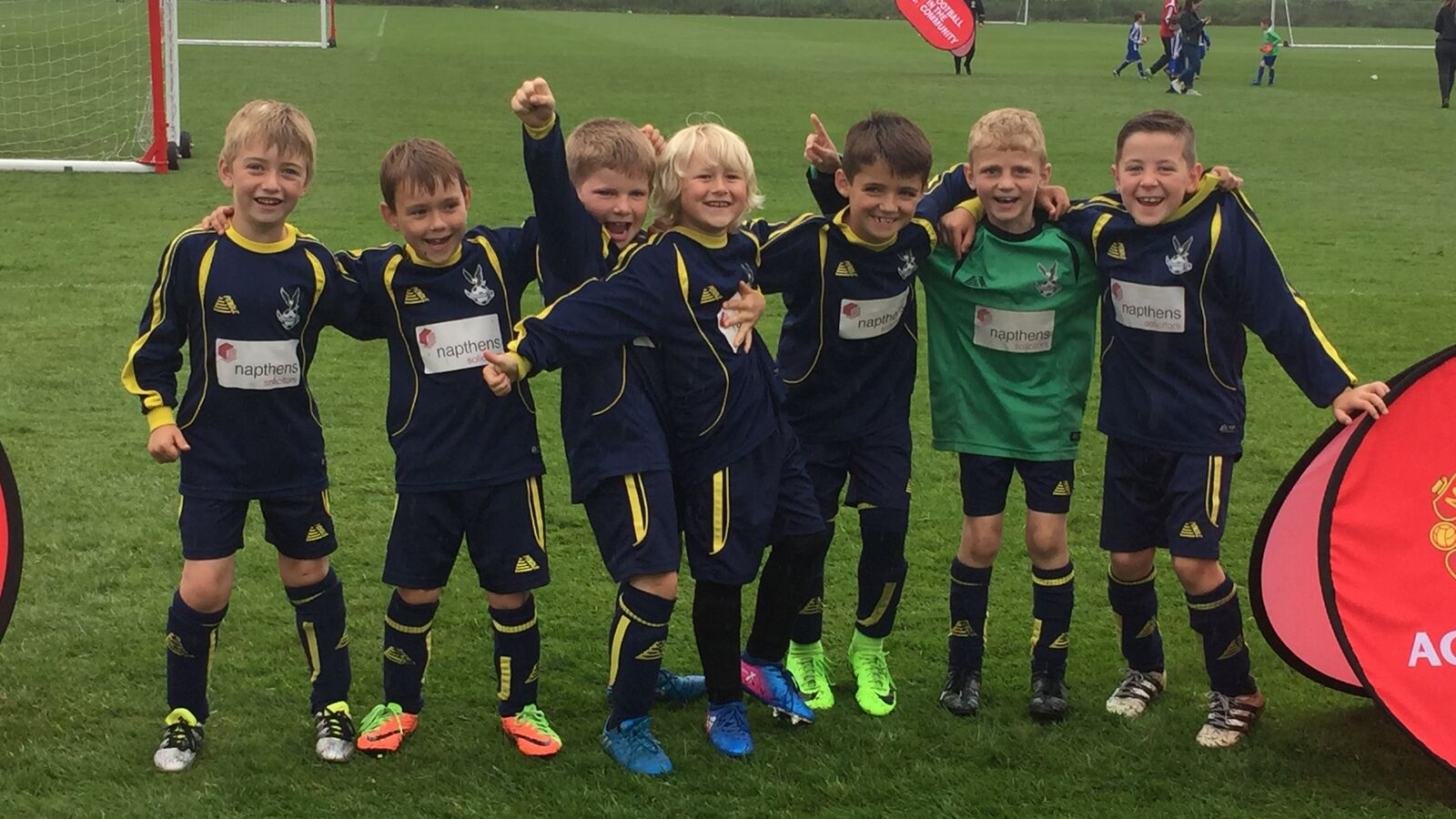 Ormskirk FC U7s play in a tournament at the Man Utd Academy