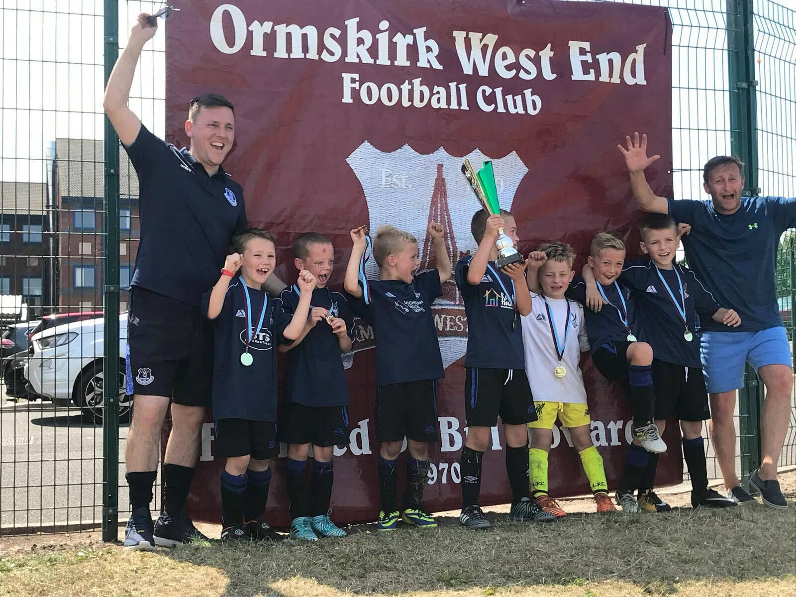 Under 7s win the Ormskirk West End Tournament
